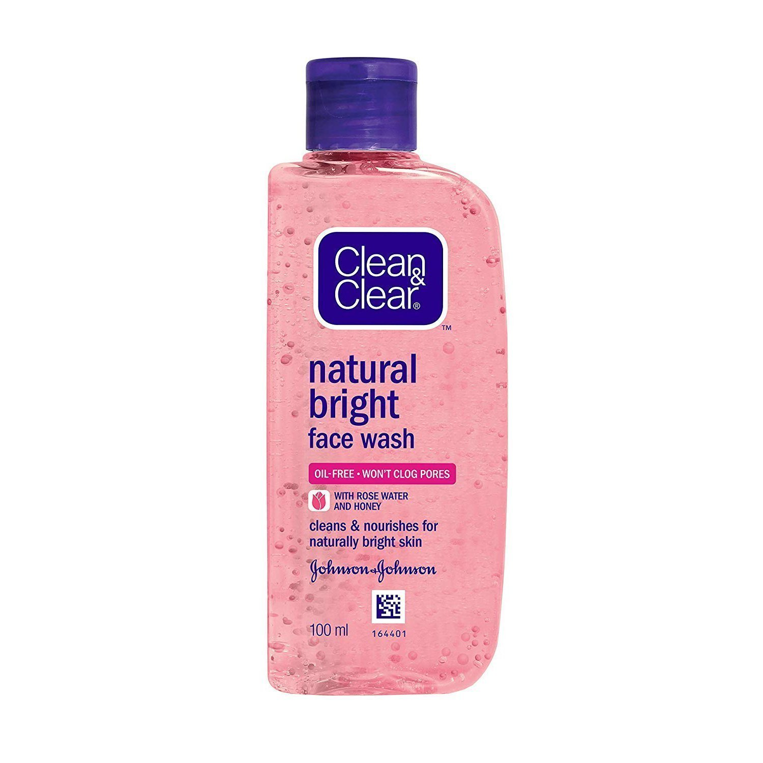 Clean & Clear Natural Bright Facewash Rose Water With Honey, 100ml