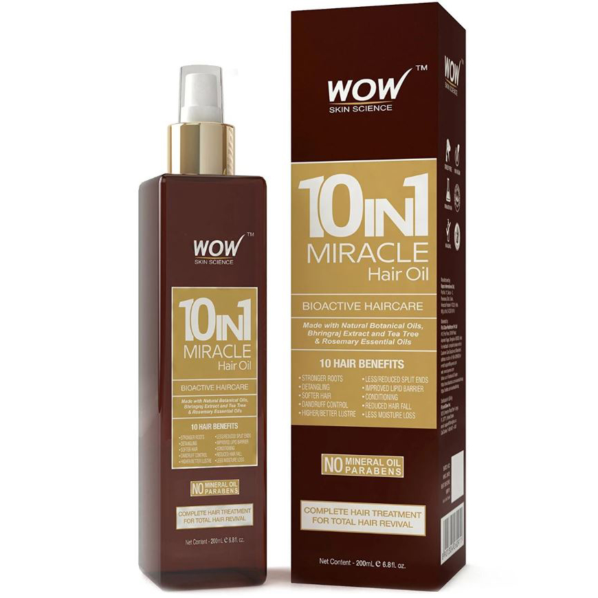 WOW Skin Science 10 In 1 Miracle Hair Oil – 200 mL