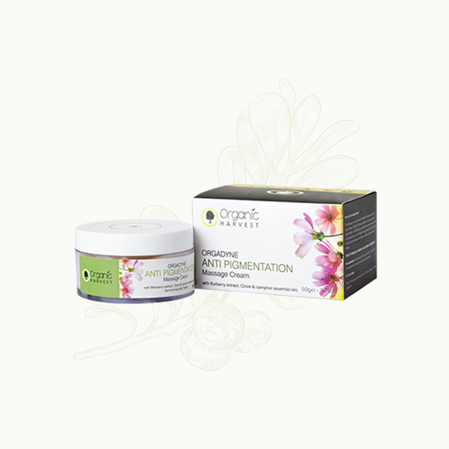 Organic Harvest Anti Pigmentation Massage Cream, 50gm