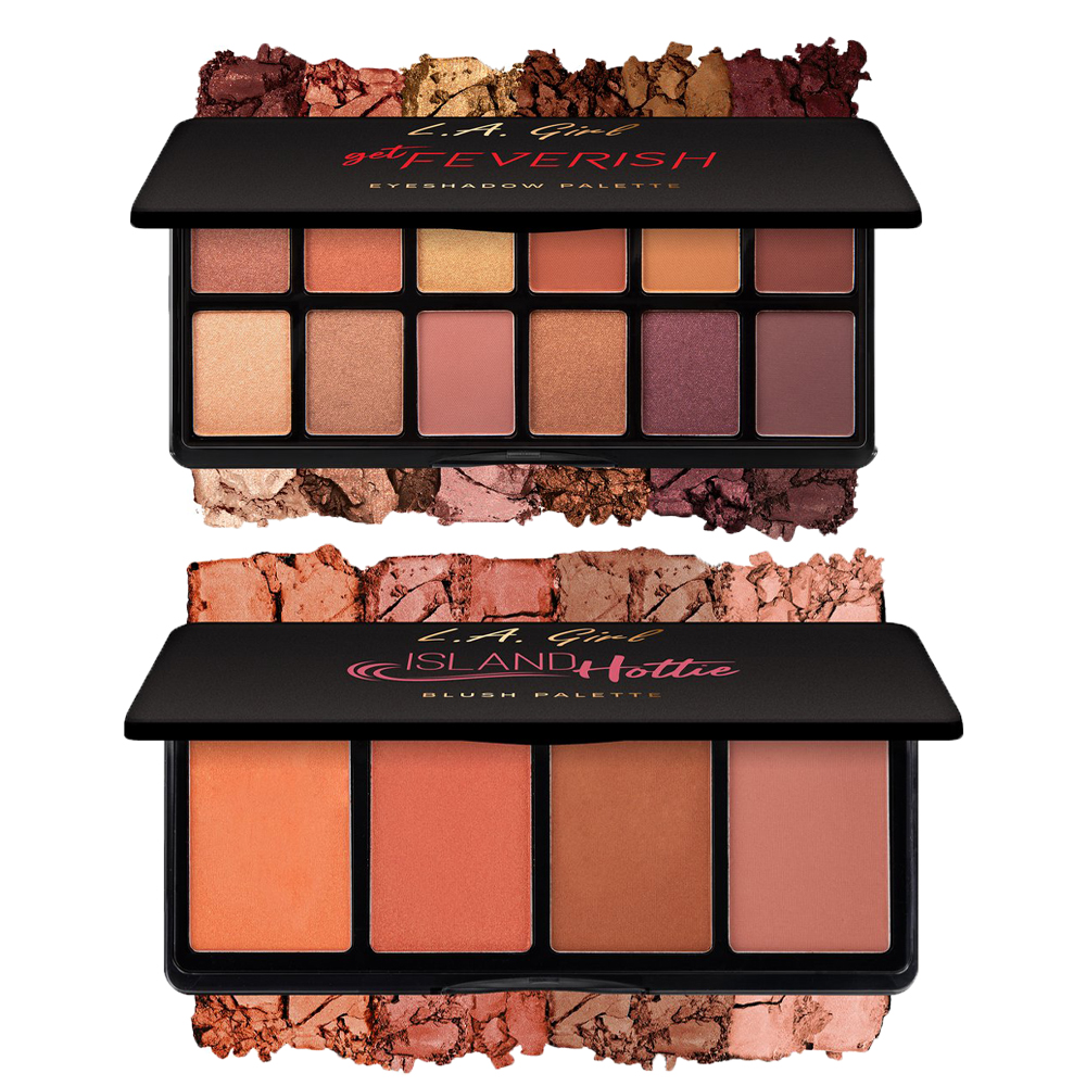 L.A. Girl Fanatic Blush And Eyeshadow Palette Combo