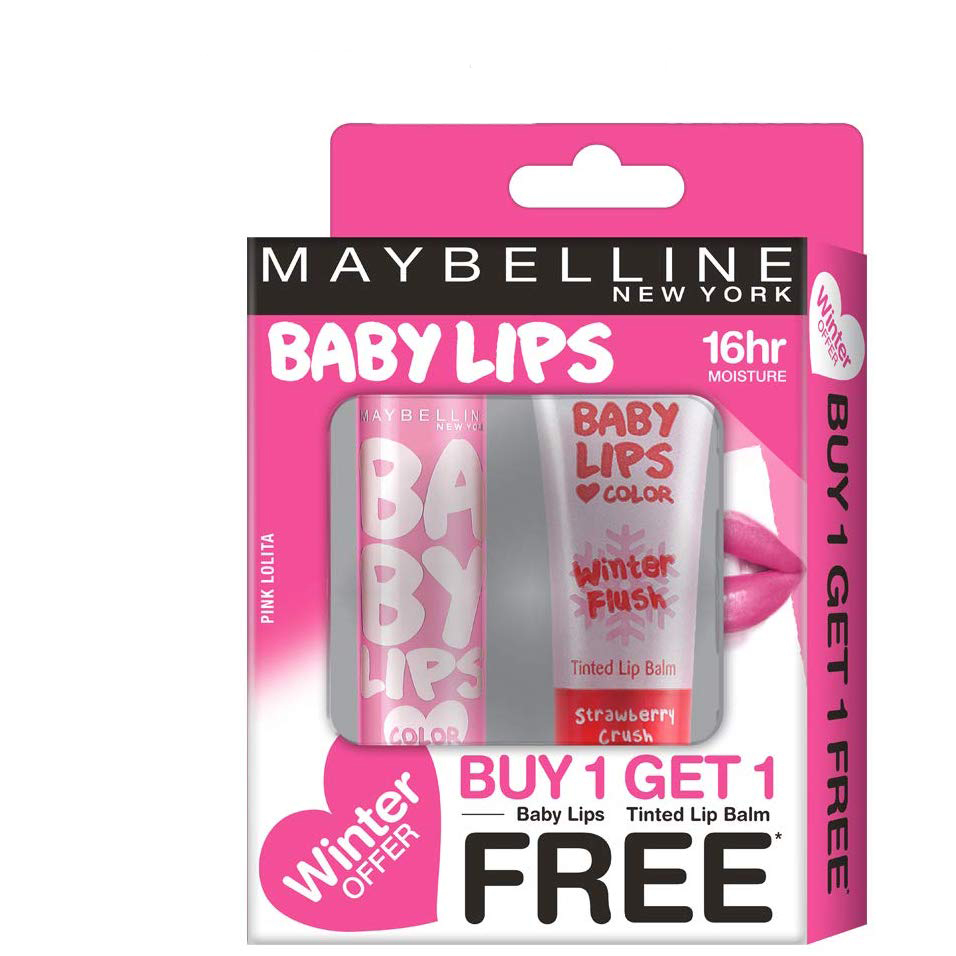 Maybelline New York Pink Lolita, 4g with Free Strawberry Crush, 9ml