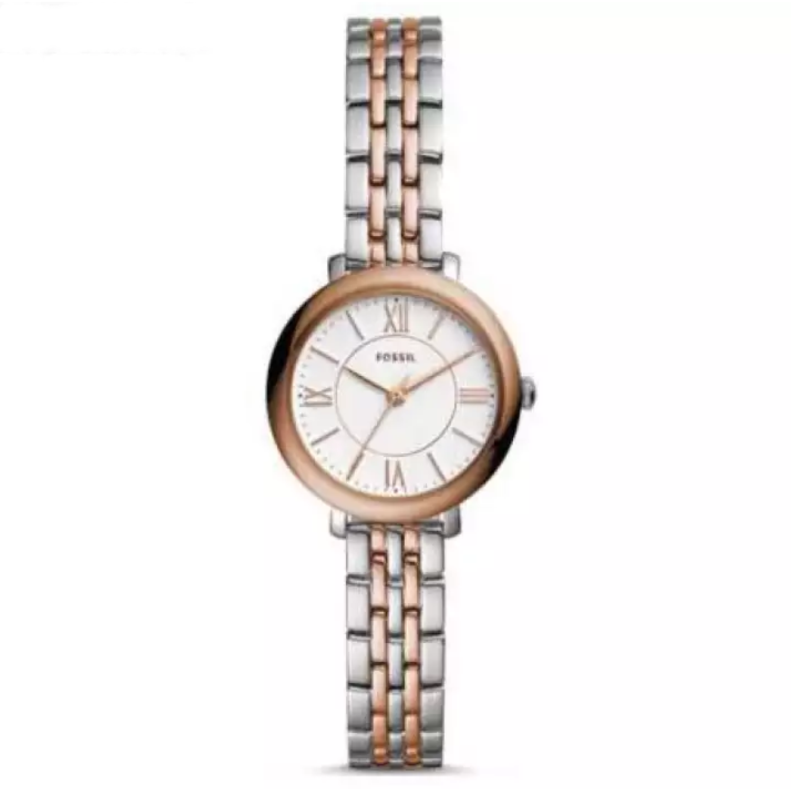 Fossil Watch Jacqueline Mini Three-Hand Two-Tone Stainless Steel Watch For Women- ES4612