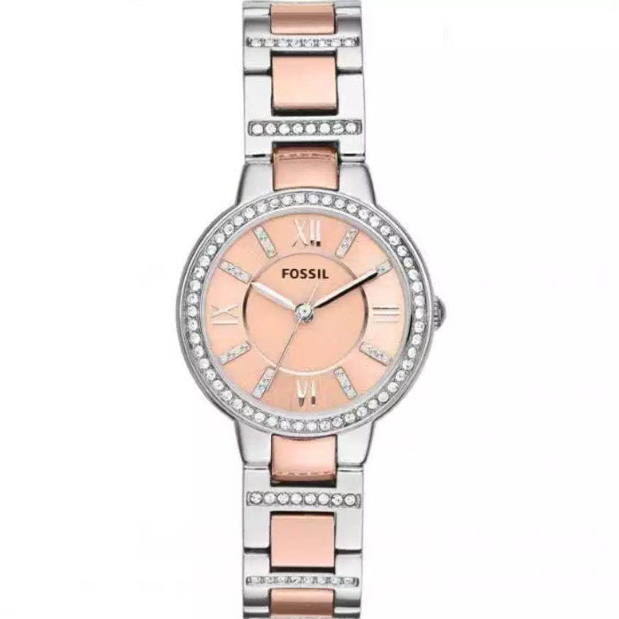 Fossil Watch Virginia Rose Dial Analog Watch For Women- ES3405