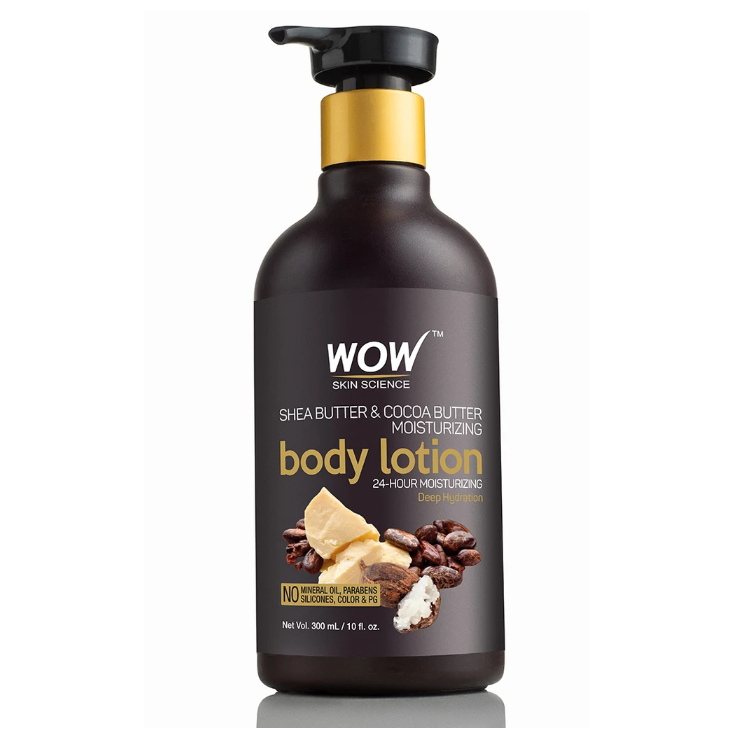 WOW Skin Science Shea & Cocoa Butter Moisturizing Lotion (Hydration Level - High) - 300 ML