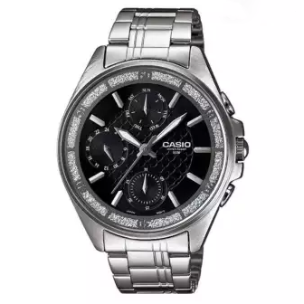 Casio Round Dial Chronograph Watch For Women - LTP-2086D-1AVDF