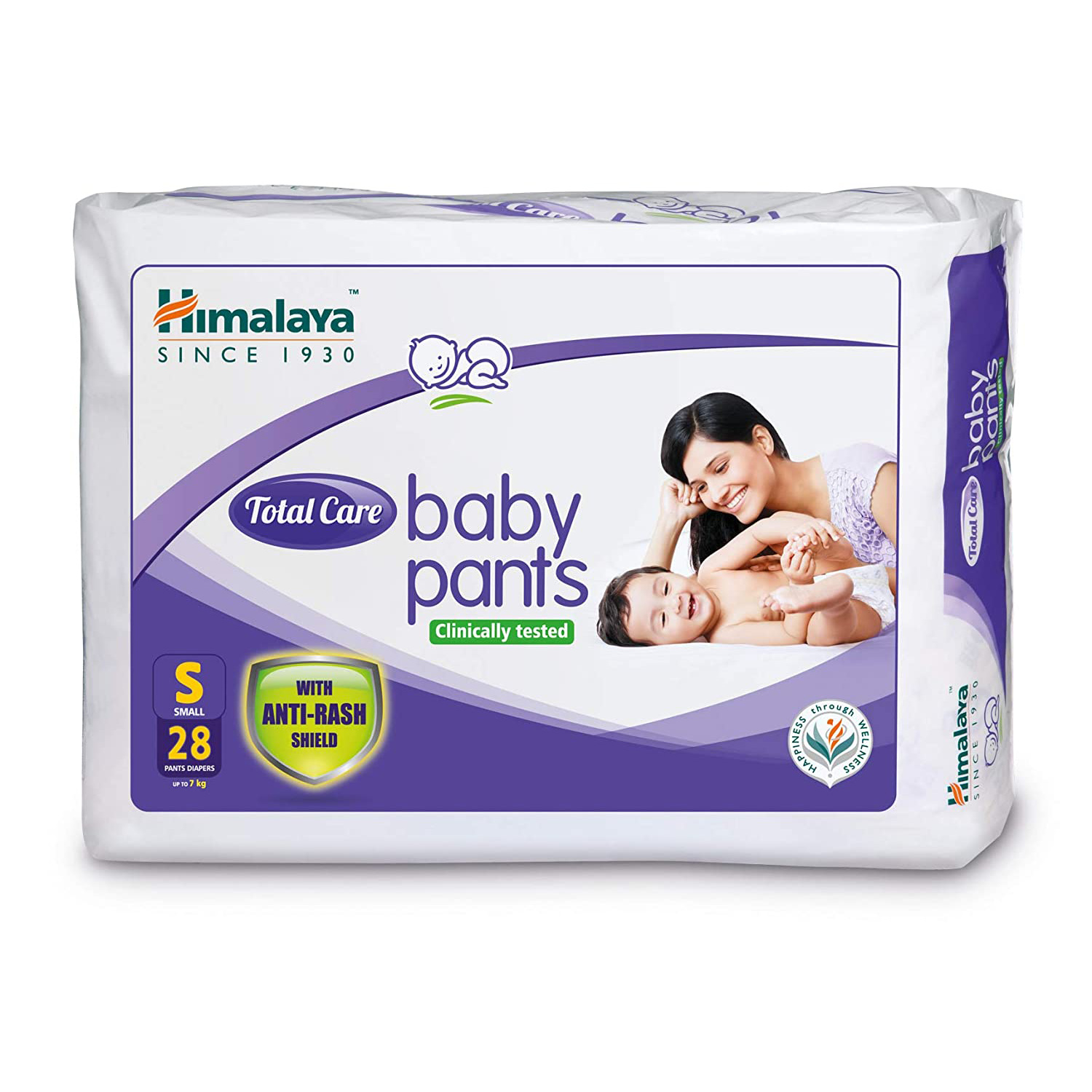 Himalaya Total Care Baby Pants, Small, 28 Count