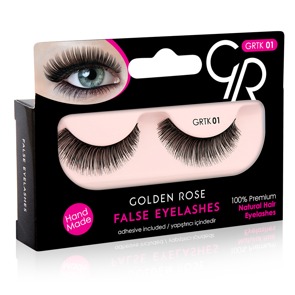 Golden Rose False Eyelashes - 01