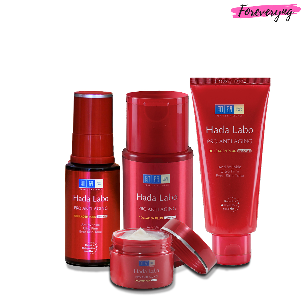 Hada Labo Pro Anti Aging Kit with Free Cleanser