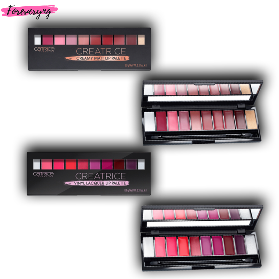 Buy One Catrice Creamy Matt Lip Palette and Get Catrice Vinyl Lacquer Lip Palette For Free!