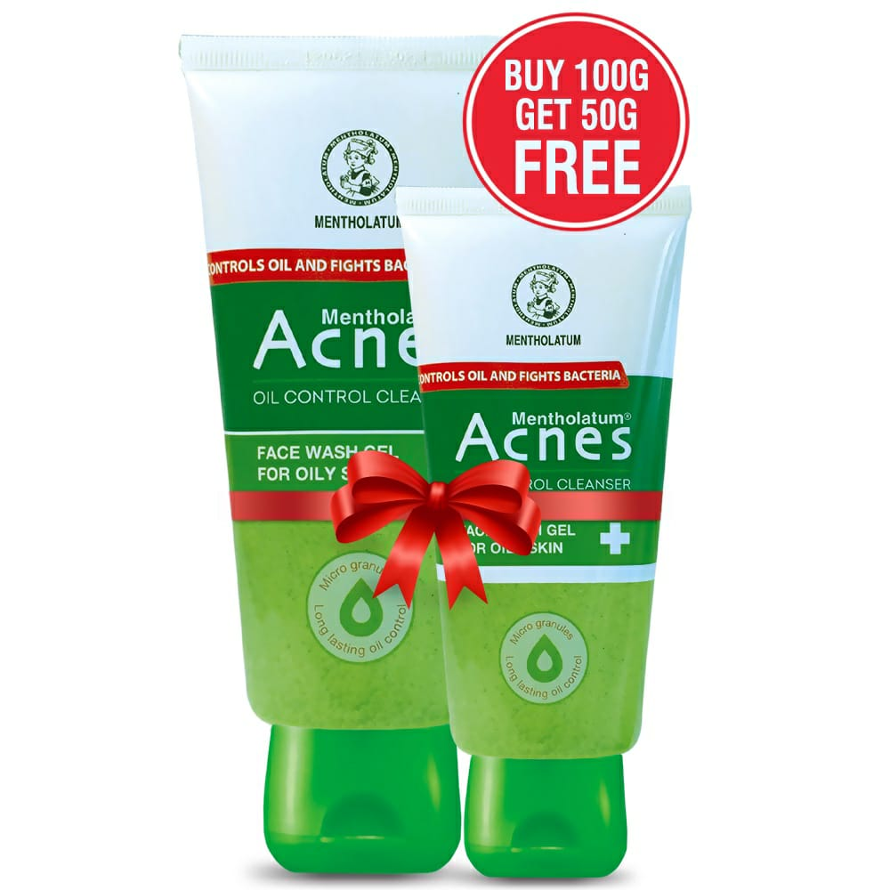 Buy  Acnes Oil Control Cleanser Face Wash Gel - 100g And Get Acnes Oil Control Cleanser Facial Gel 50g Absolutely Free!