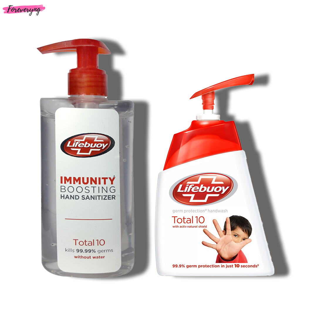 Lifebuoy Total 10 Hand Wash & Sanitizer Combo