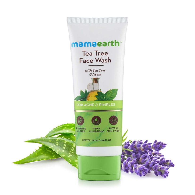 Mamaearth Face Wash With Tea Tree Oil And Neem Extract For Acne & Pimples (100ml)