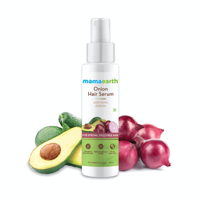 Mamaearth Onion Hair Serum With Onion & Biotin For Strong, Frizz-Free Hair – 100 Ml