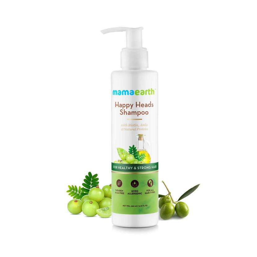 Mamaearth Happy Heads Shampoo For Healthy & Stronger Hair, 200ml