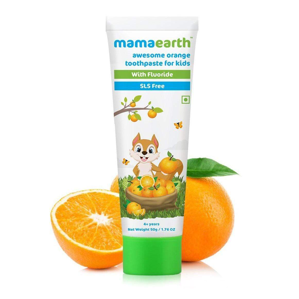 Mamaearth Awesome Orange Toothpaste, 50Gm