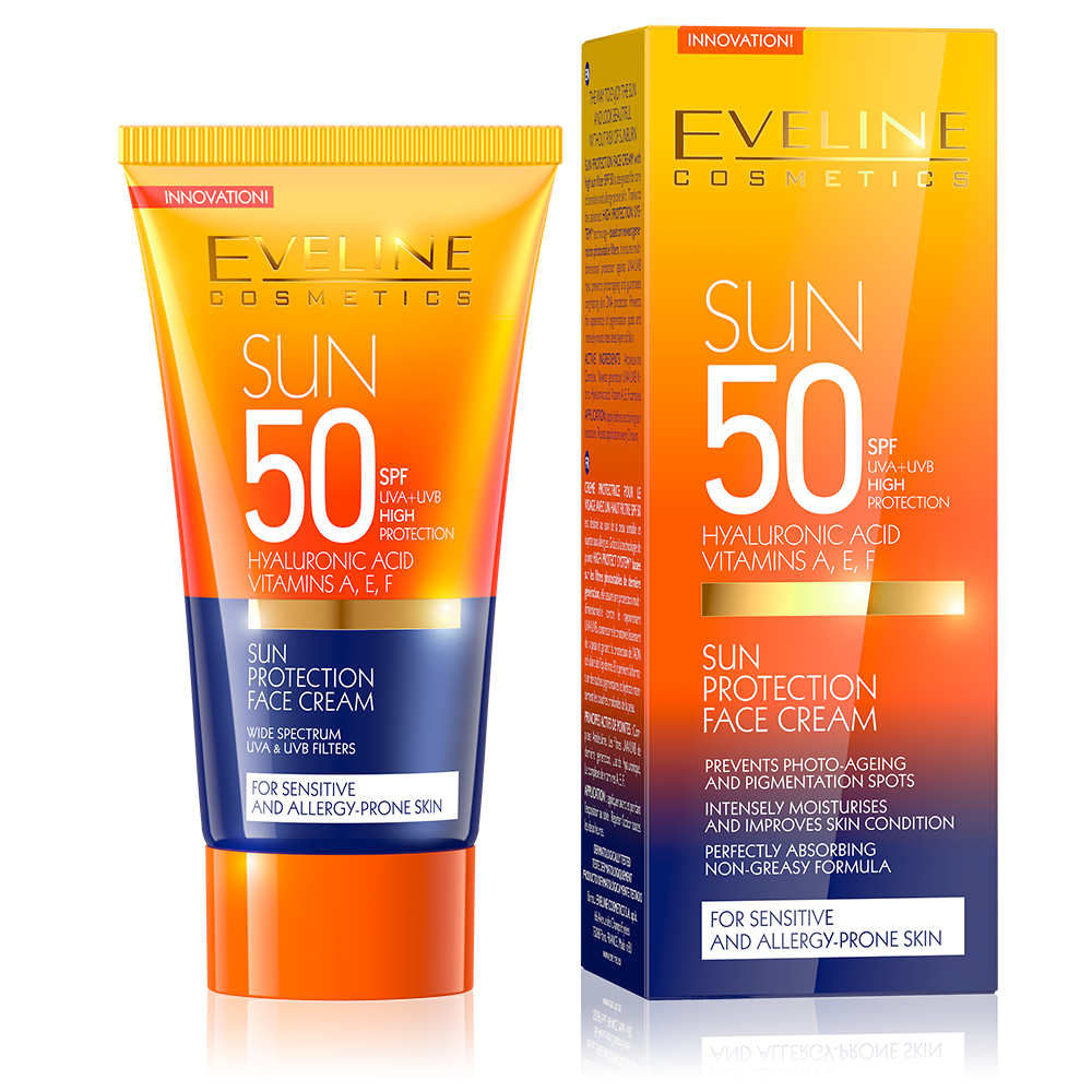 Eveline Cosmetics Sun Protection Face Cream Spf 50 - 50ml