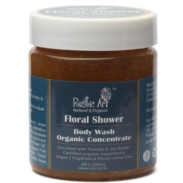 Rustic Art Floral Shower Body Wash Concentrate - 100gm