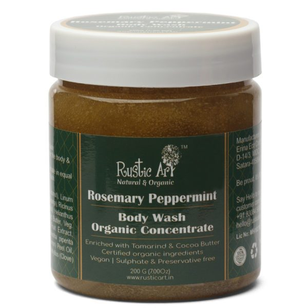 Rustic Art Rosemary Peppermint Body Wash Concentrate - 200gm