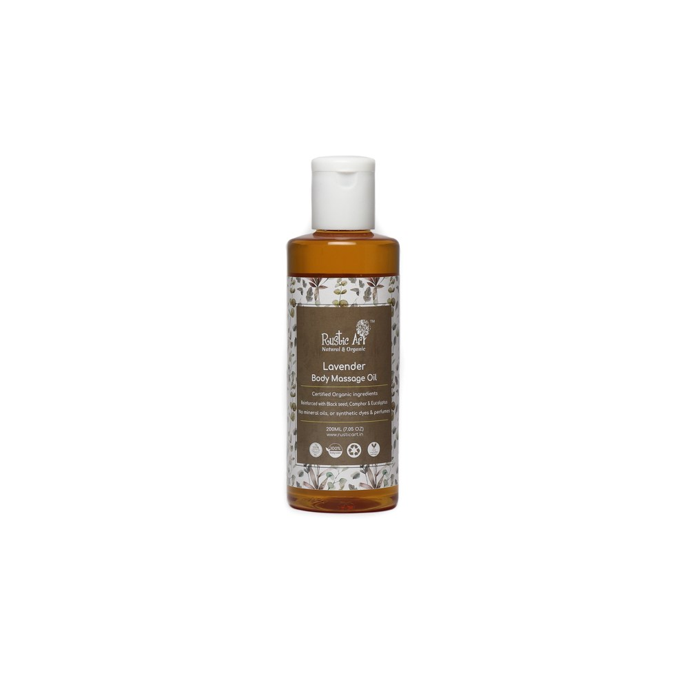 Rustic Art Organic Lavender Body Massage Oil - 200ml