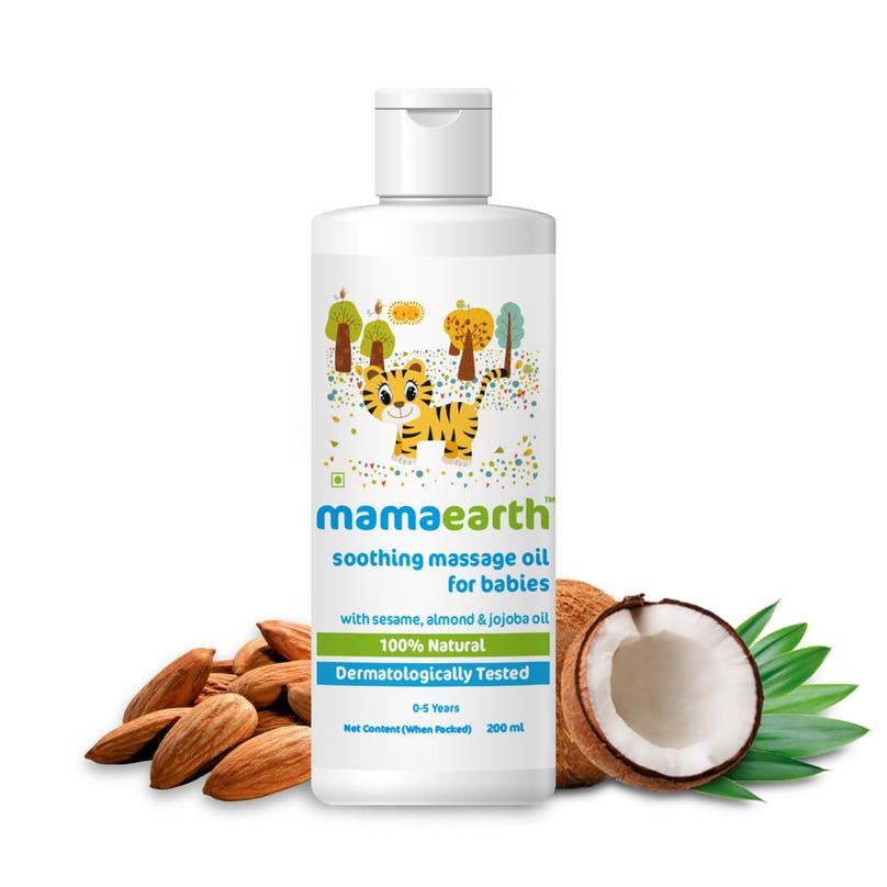 Mamaearth Soothing Massage Oil for Babies with Sesame, Almond & Jojoba Oil - 200ml