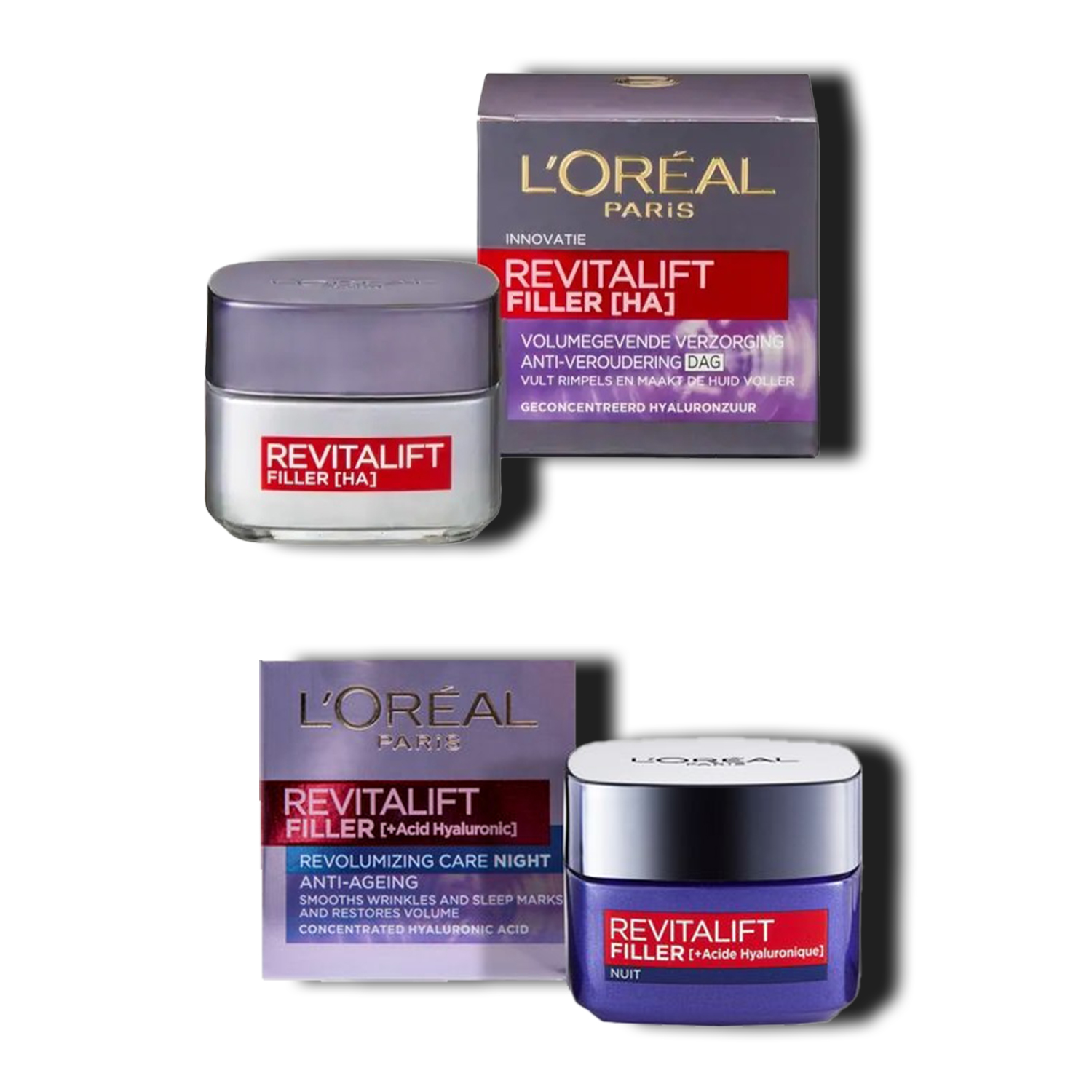 L'Oreal Paris Revitalift Filler Renew Day Cream & Night Cream Combo