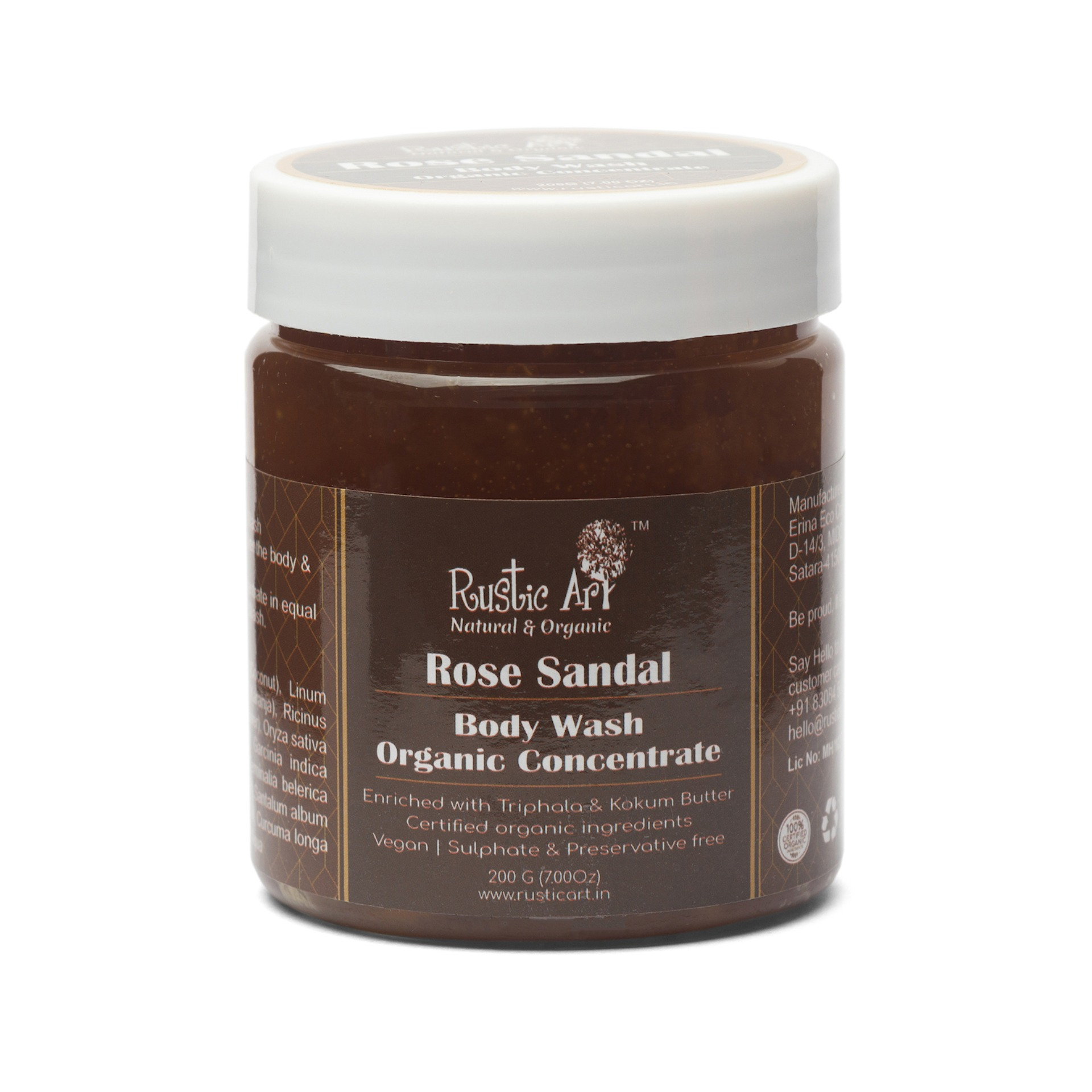 Rustic Art Rose Sandal Body Wash Concentrate - 100gm
