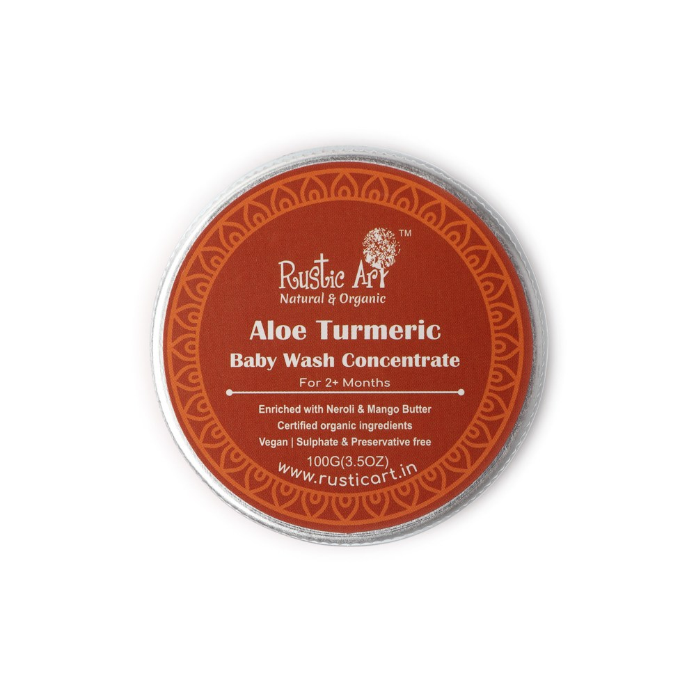 Rustic Art Organic Aloe Turmeric Baby Wash Concentrate - 100gm