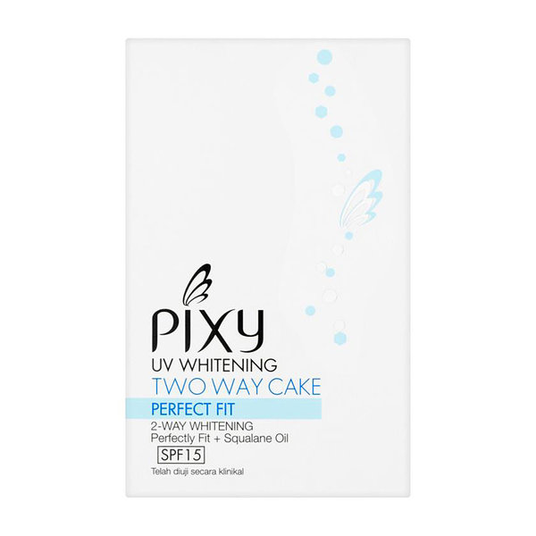 Pixy Uv Whitening Two Way Cake Perfect Fit 2 Way Cake Perfect Fit 2 Way Whitening Perfectly Fit + Squalane Oil SPF 15- 01 White Cream