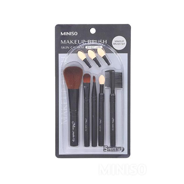 Miniso Skin Charm Makeup Brush Set(Extra Eyeshadow Tip included)