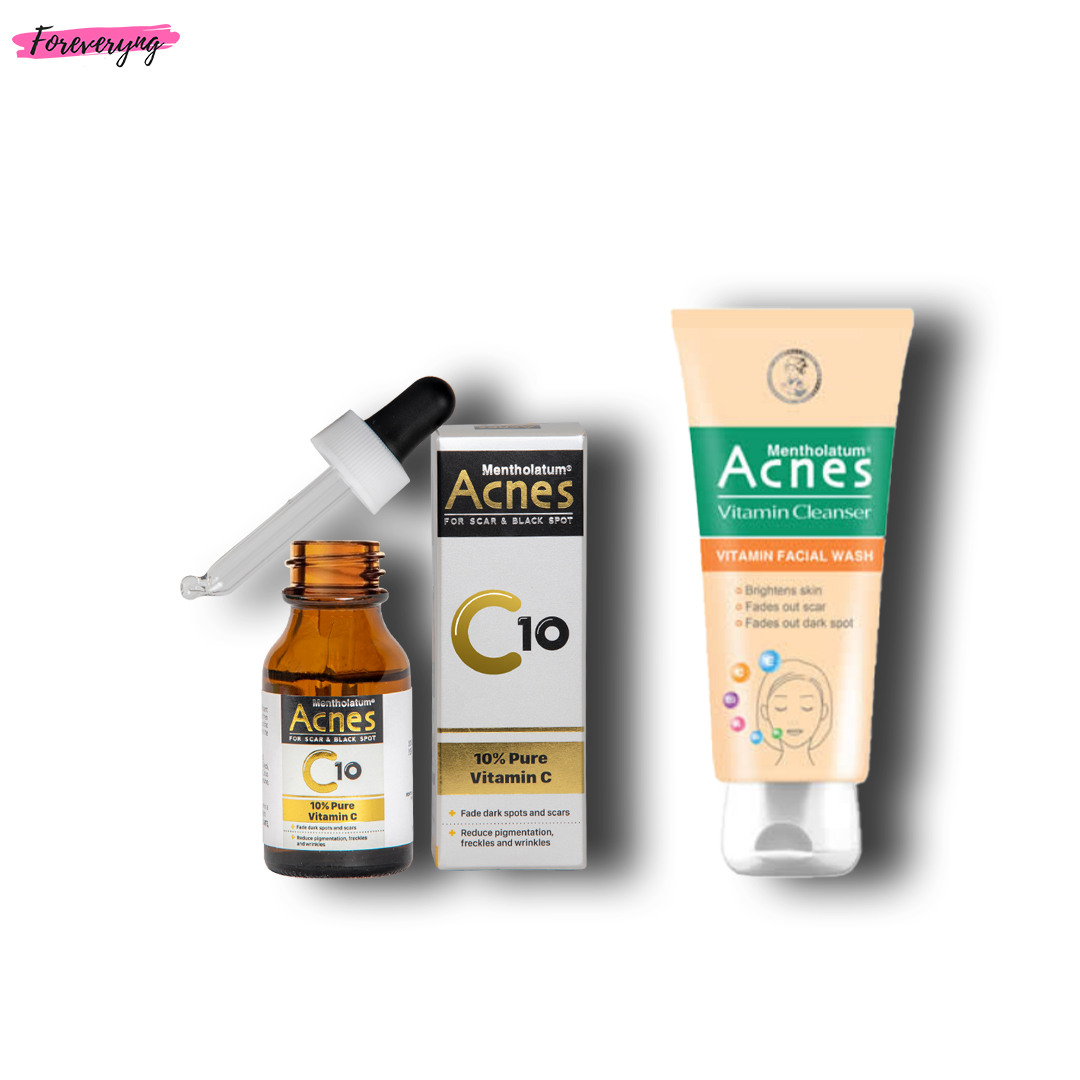 Buy Acnes C10 Pure Vitamin C Serum 15ml & Get Acnes Vitamin Cleanser - 100g For Free