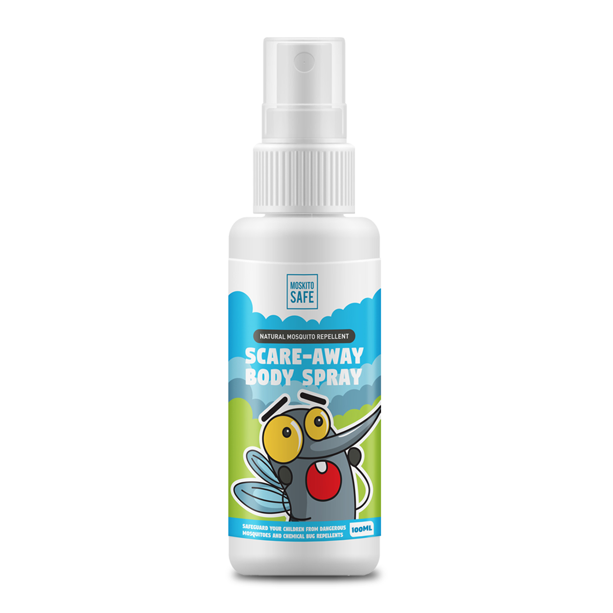 Moskito Safe Natural Alcohol & DEET Free Mosquito Repellent Spray