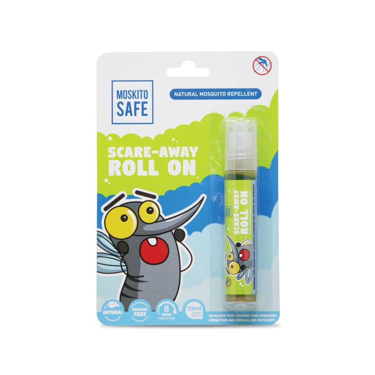 Moskito Safe Scare Away Natural Mosquito Repellent Roll On - 10ml