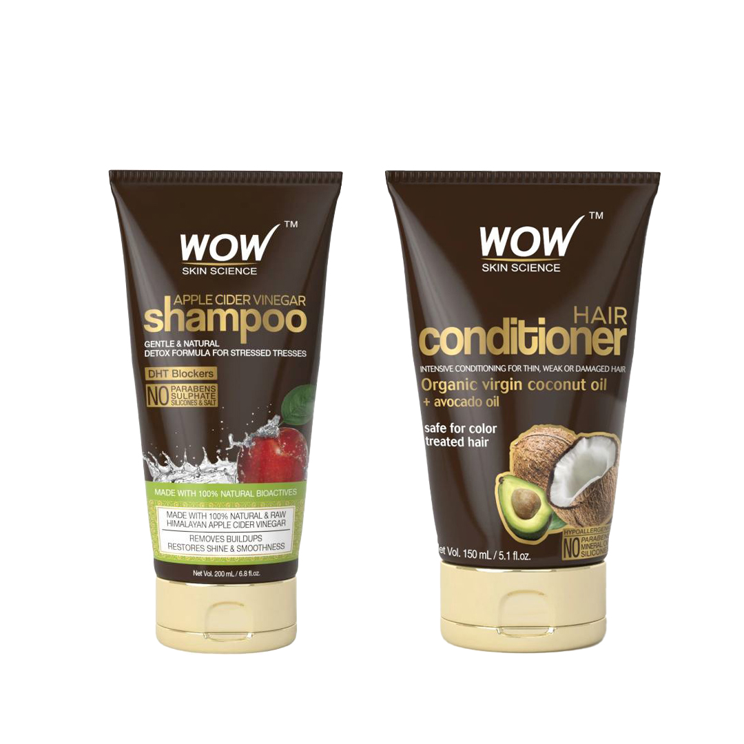 Wow Skin Science Apple Cider Vinegar Shampoo & Wow Skin Science Hair Conditioner Combo