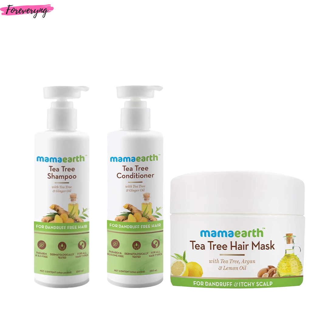 Mamaearth Tea Tree Shampoo, Conditioner & Hair Mask Combo