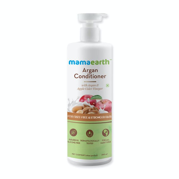 Mamaearth Argan Conditioner with Argan & Apple Cider Vinegar for Frizz-Free and Stronger Hair - 250ml