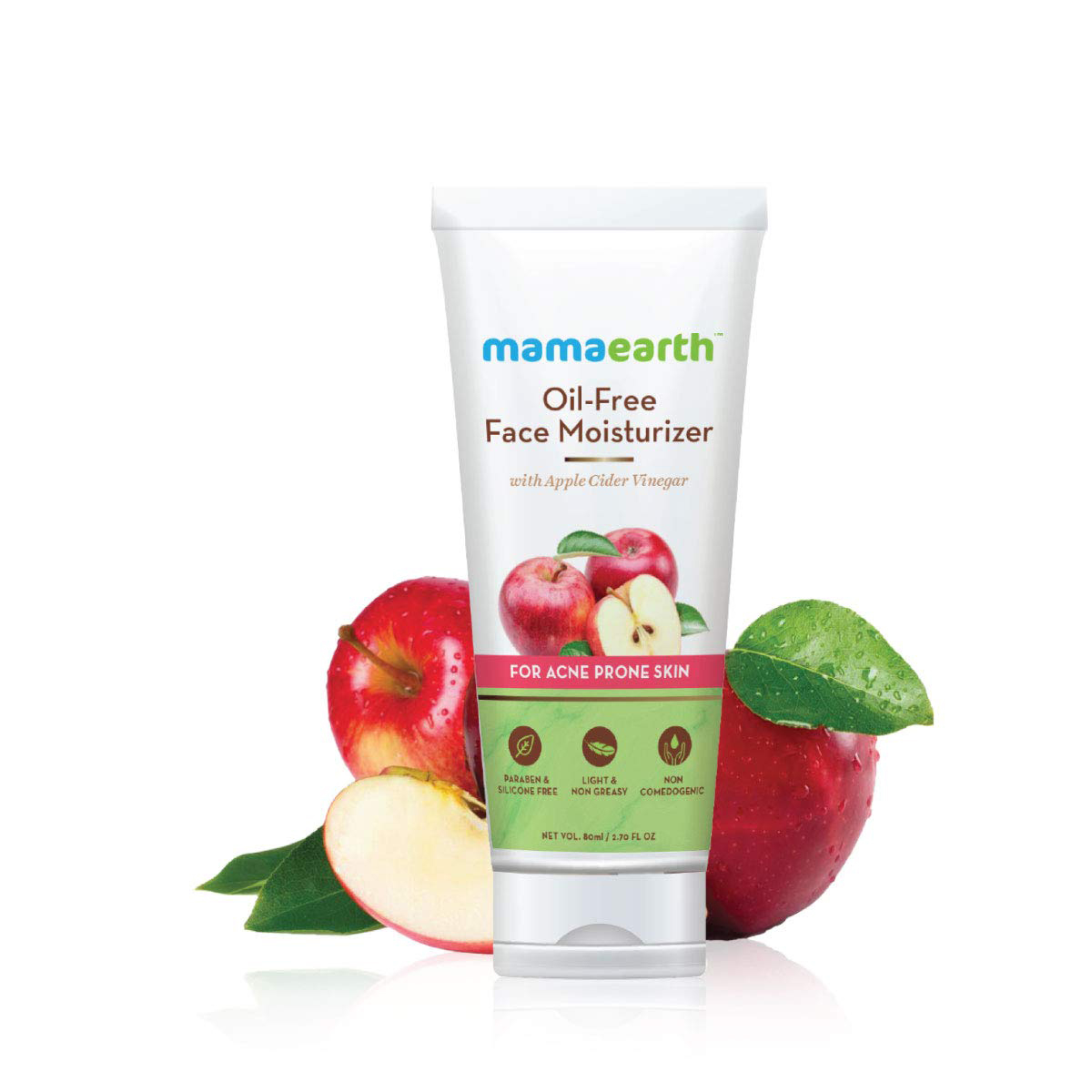 Mamaearth Oil-Free Face Moisturizer for Acne-Prone Skin, 80ml