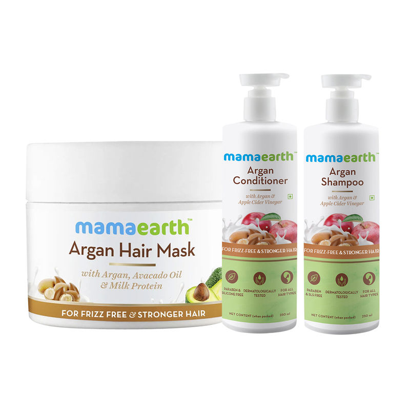 Mamaearth Argan & Apple Cider Vinegar Anti Hair Freez Spa Kit