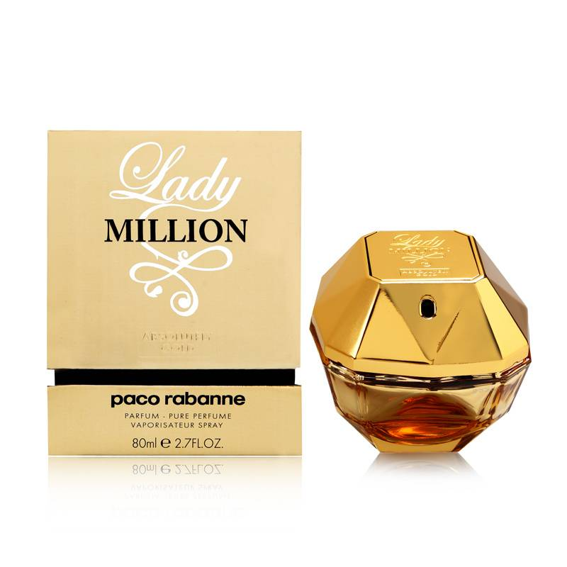 Paco Rabanne Lady Million Absolutely Gold Parfum, 80ml