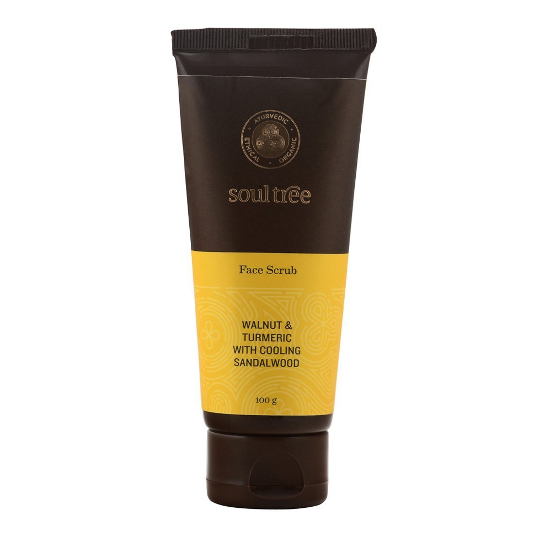 SoulTree Face Scrub - Walnut And Turmeric With Cooling Sandalwood(100gm)