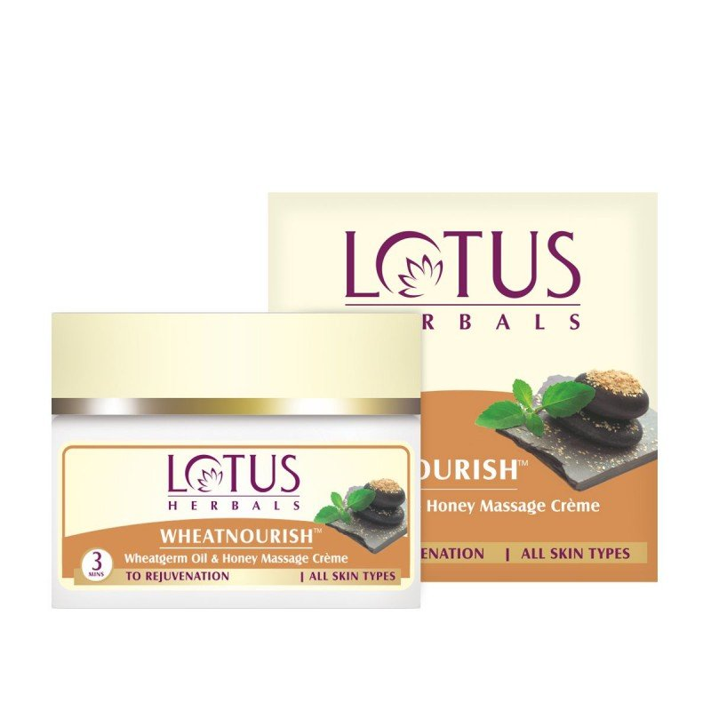 Lotus Herbals WHEATNOURISH Wheatgerm Oil & Honey Massage Crème