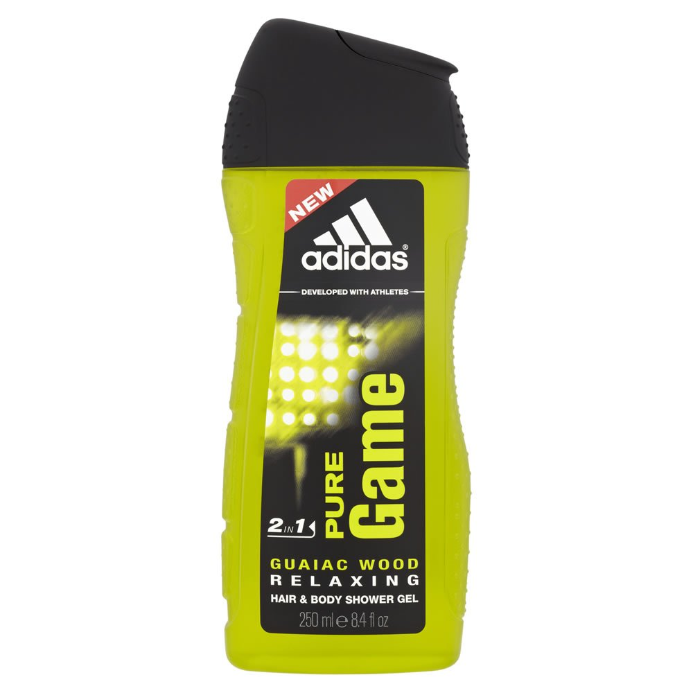 Adidas Pure Game Shower Gel for Men, 250ml