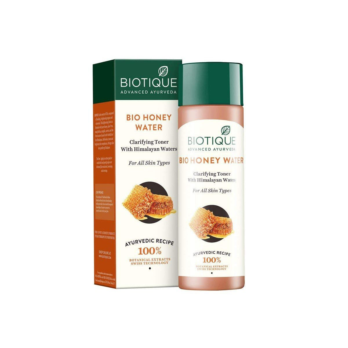 Biotique Honey Water Pore Tightening Toner With Himalayan Waters (120ml)